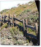 Rail Fence Black Canvas Print by Barbara Snyder