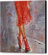 Rain In Manhattan Canvas Print by Ylli Haruni