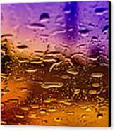 Rain On Windshield Canvas Print by J Riley Johnson