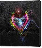 Rainbow Heart Canvas Print by Linda Sannuti
