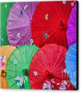Rainbow Of Parasols   Canvas Print by Alexandra Jordankova