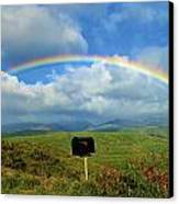 Rainbow Over A Mailbox Canvas Print by Kicka Witte