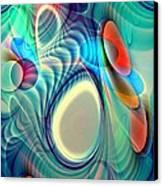 Rainbow Play Canvas Print by Anastasiya Malakhova