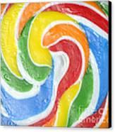 Rainbow Swirl Canvas Print by Luke Moore