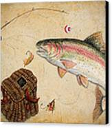 Rainbow Trout Canvas Print by Jean Plout