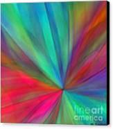 Rainbow Wheel Canvas Print by ME Kozdron