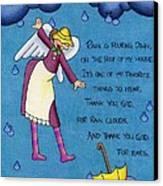 Rainy Day Angel Canvas Print by Sarah Batalka