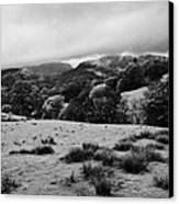 Rainy Day In The Lake District Near Loughrigg Cumbria England Uk Canvas Print