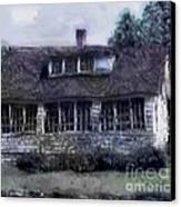 Rainy Day Long Ago House Canvas Print