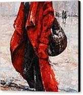 Rainy Day - Red And Black #2 Canvas Print by Emerico Imre Toth
