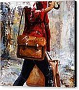 Rainy Day - Woman Of New York 17 Canvas Print