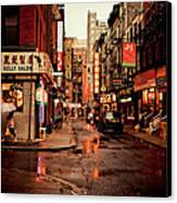 Rainy Street - New York City Canvas Print by Vivienne Gucwa
