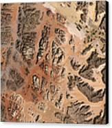 Ram Desert Transjordanian Plateau Jordan Canvas Print