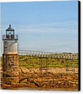 Ram Island Lighthouse Canvas Print by Karol Livote