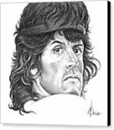 Rambo-sylvester-stallone Canvas Print by Murphy Elliott