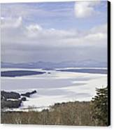 Rangeley Maine Winter Landscape Canvas Print