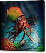 Rasta Squid Canvas Print