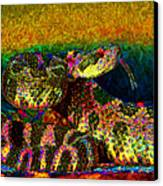 Rattlesnake 20130204p0 Canvas Print by Wingsdomain Art and Photography
