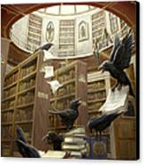 Ravens In The Library Canvas Print by Rob Carlos
