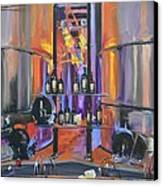 Raymond Vineyards Crystal Cellar II Canvas Print by Donna Tuten