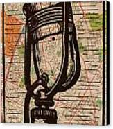 Rca 77 On Austin Map Canvas Print by William Cauthern