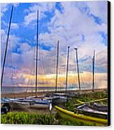 Ready For Sails Canvas Print by Debra and Dave Vanderlaan