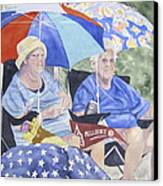 Ready For The Millbury Parade Canvas Print by Carol Flagg
