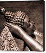 Reclining Buddha Canvas Print by Adrian Evans