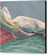 Reclining Nude Back Canvas Print by Asha Carolyn Young