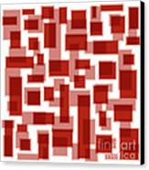 Red Abstract Patches Canvas Print by Frank Tschakert