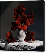 Red Amaryllis  Canvas Print by Larry Preston