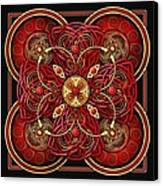 Red And Gold Celtic Cross Canvas Print by Richard Barnes