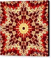 Red And White Patchwork Art Canvas Print