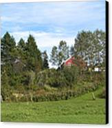 Red Barn Canvas Print by Blind Eye Photo