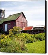 Red Barn In Groton Canvas Print