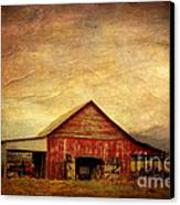 Red Barn  Canvas Print by Joan McCool