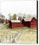 Red Barn Canvas Print by Marcia Colelli