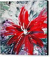 Red Beauty Canvas Print by Teresa Wegrzyn