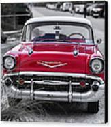 Red Belair At The Beach Standard 11x14 Canvas Print