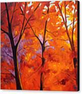 Red Blaze Canvas Print by Nancy Merkle