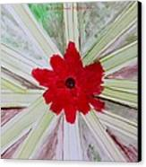 Red Brilliance Canvas Print by Sonali Gangane