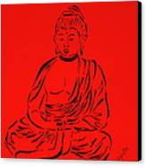 Red Buddha Canvas Print