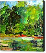 Red Canoe I Canvas Print by Charlie Spear