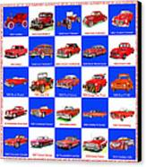 Red Cars Of America Canvas Print