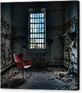 Red Chair - Art Deco Decay - Gary Heller Canvas Print by Gary Heller