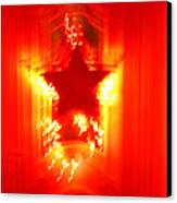 Red Christmas Star Canvas Print