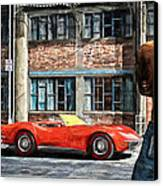 Red Corvette Canvas Print by Bob Orsillo