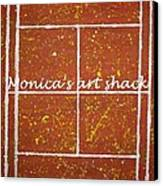 Red Dirt Of A Tennis Court Canvas Print by Monica Art-Shack
