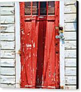 Red Door By Diana Sainz Canvas Print by Diana Sainz