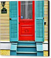 Red Door In New Orleans Canvas Print